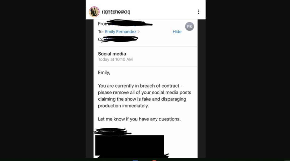 Emily Fernandez posts about breach of contract
