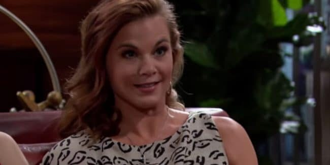 Gina Tognoni on The Young and the Restless set.