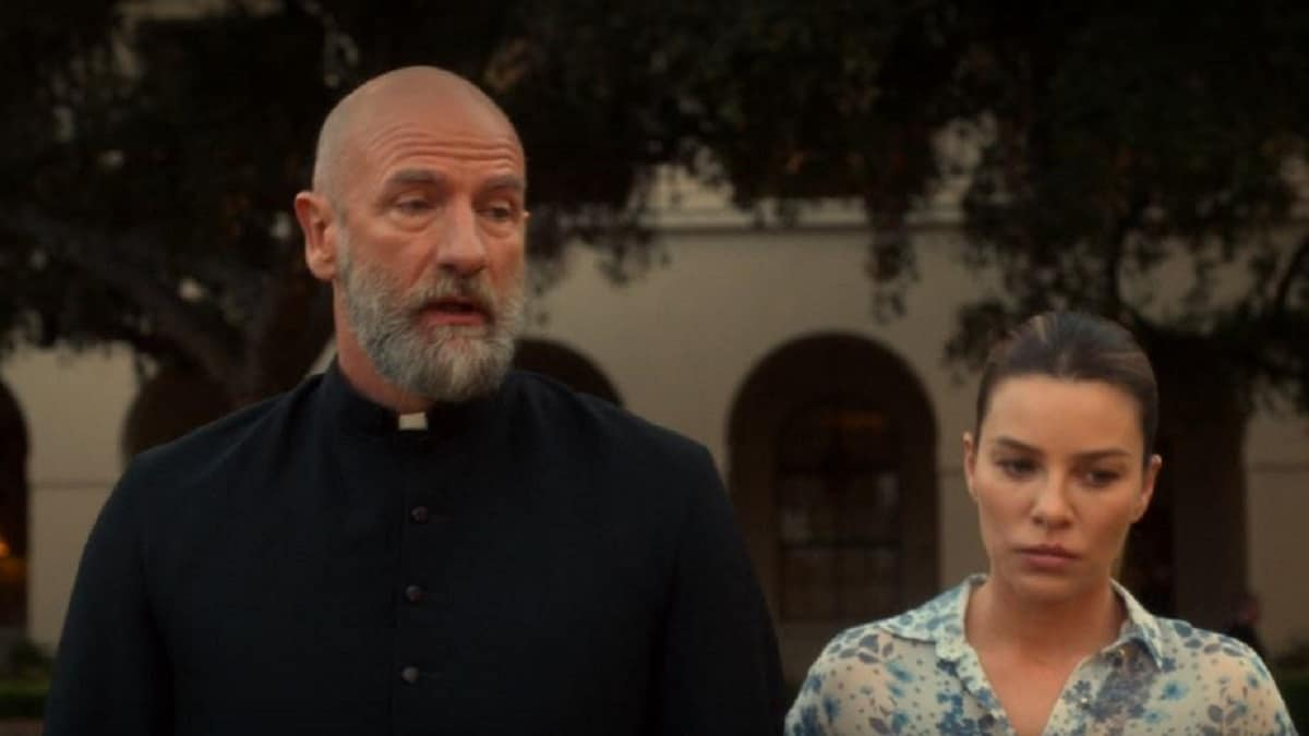 Graham McTavish as Father Kinley and Lauren German as Chloe