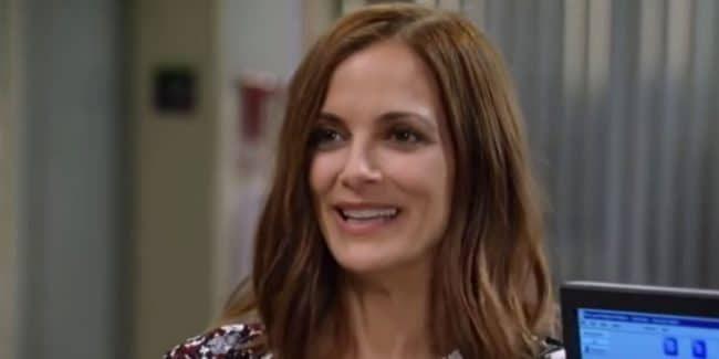 Rebecca Budig as Hayden on General Hospital.