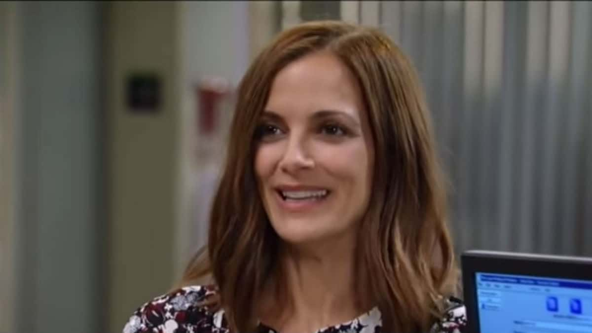 Rebecca Budig as Hayden on General Hospital.