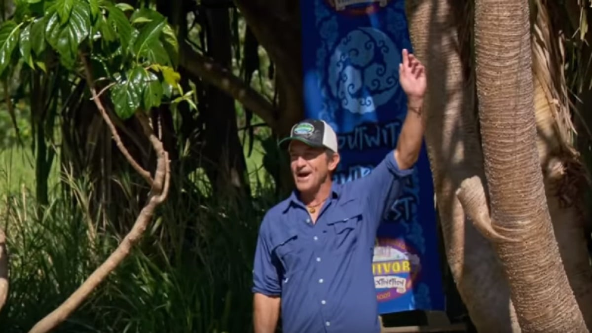 Jeff Probst during Season 38, episode 13 of Survivor