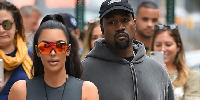 Kim Kardashian and Kanye West are seen in New York City.