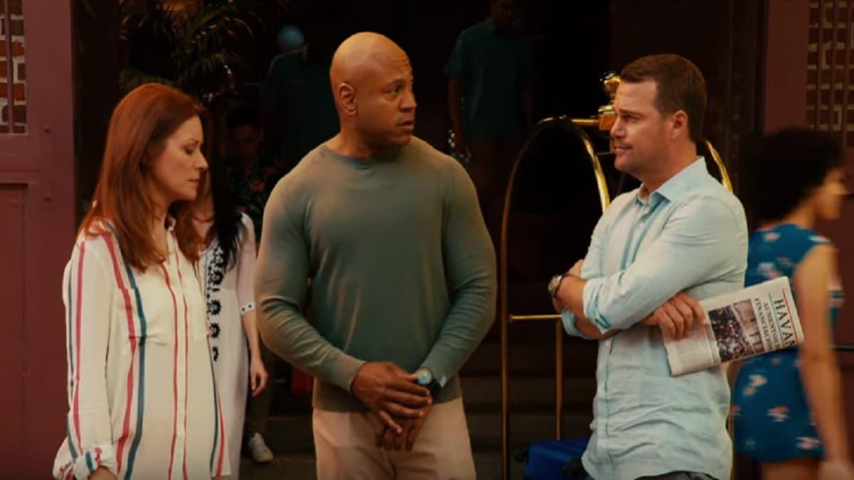 NCIS: Los Angeles cast during episode called No More Secrets