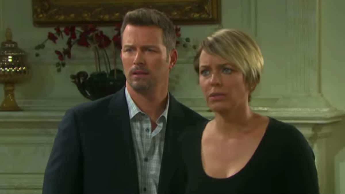 Arianne Zucker and Eric Martsolf as Brady and Nicole on Days of our Lives.