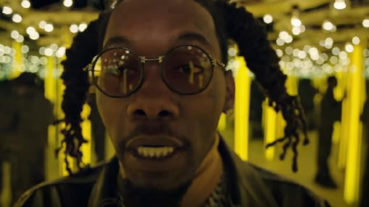 Offset raps in a video