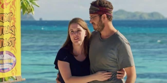 Rick Devens with his wife on Survivor: Edge of Extinction