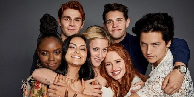 Archie Andrews and the gang on Riverdale