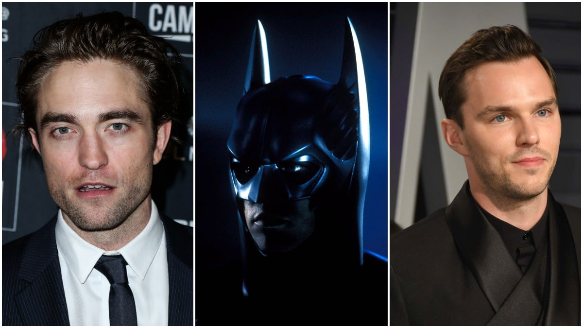 Robert Pattinson, Batman and Nicholas Hoult in a collage
