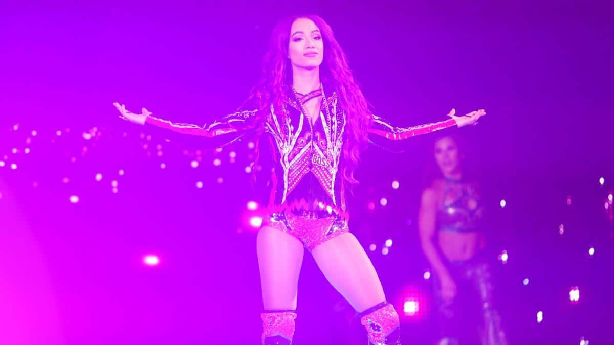 Sasha Banks tweets support while watching AEW Double or Nothing