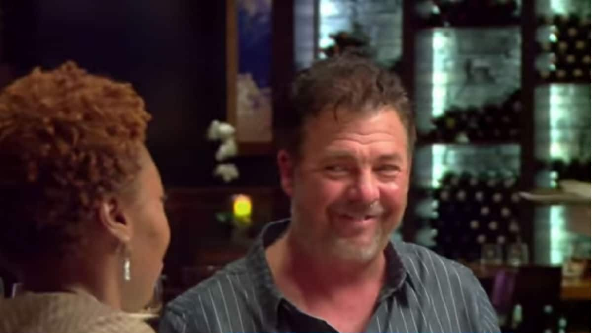 Scott having dinner on Love After Lockup: Life After Lockup.