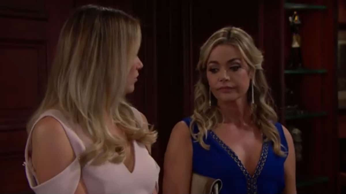 Katrina Bowden and Denise Richards as Flo and Shauna on The Bold and the Beautiful.