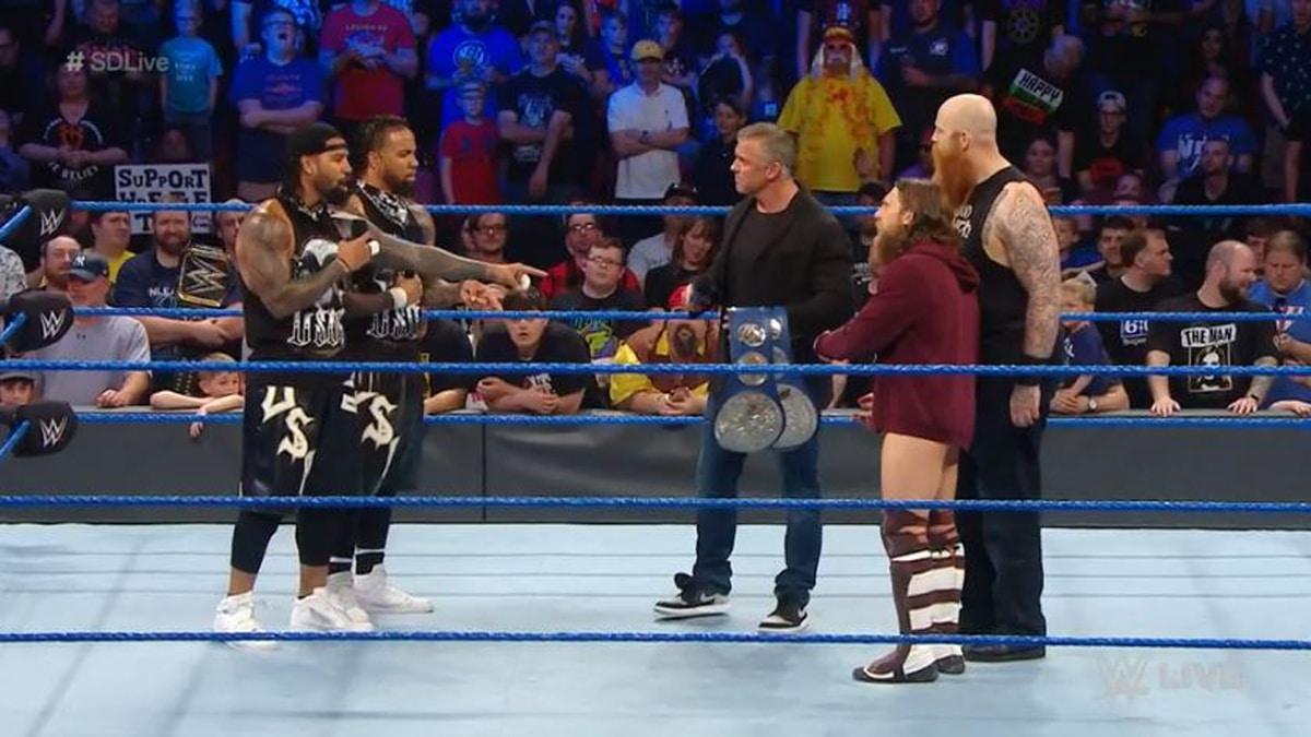 Daniel Bryan and Rowan beat The Usos to become the new SmackDown Live tag team champions