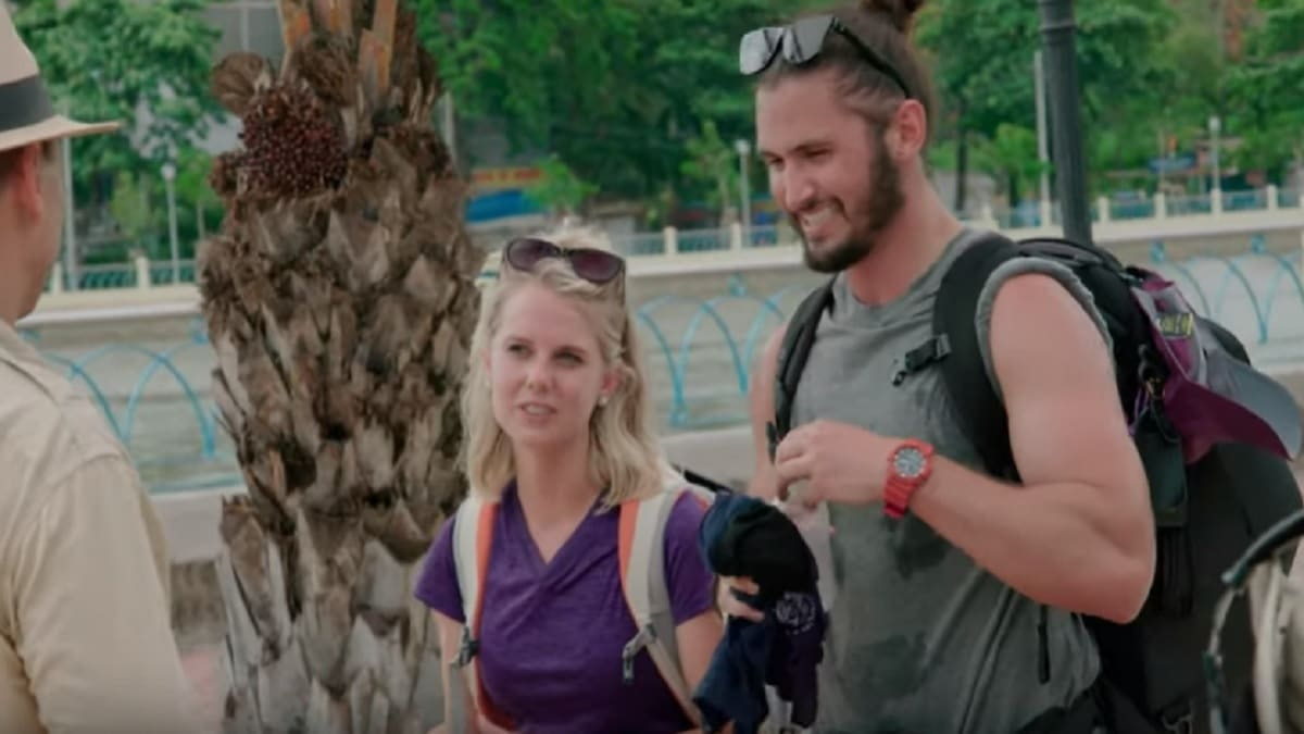Victor Arroyo and Nicole Franzel on Season 31 The Amazing Race cast.