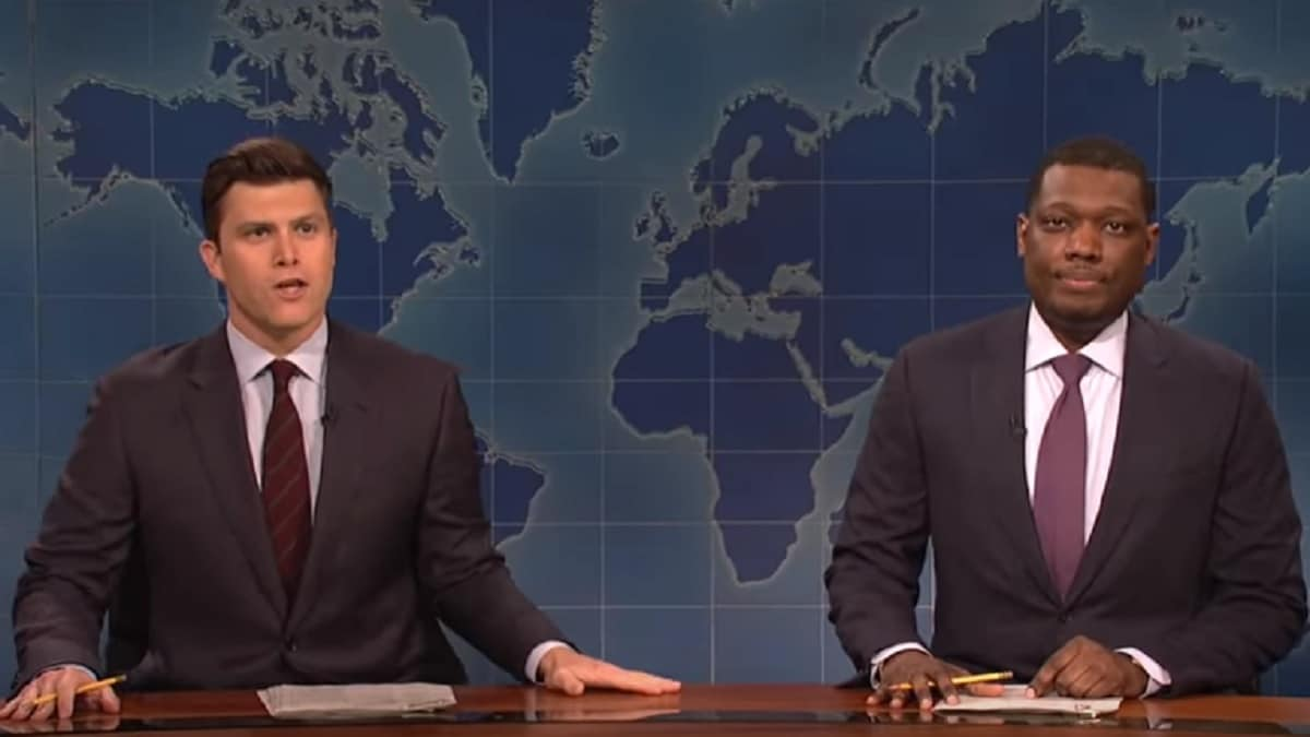 Colin Jost and Michael Che host Weekend Update on SNL
