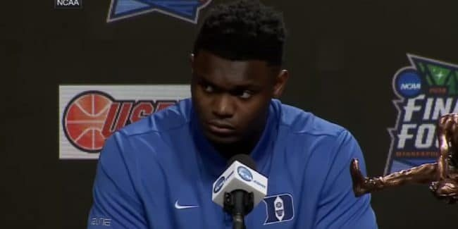 Zion Williamson hasn't stated which NBA team he wants to play for