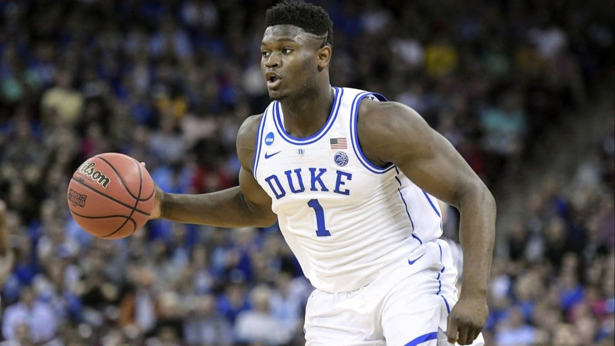 NBA Draft 2019: Zion Williamson's reaction to Knicks ...