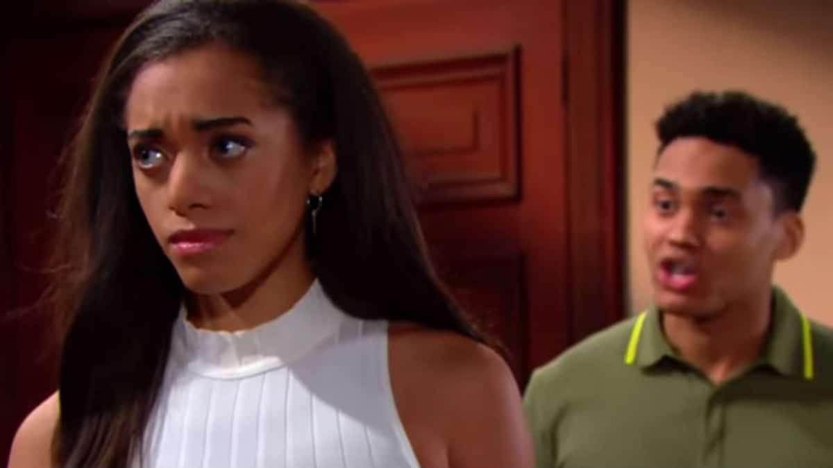 Kiara Barnes and Adain Bradley as Zoe and Xander on The Bold and the Beautiful.