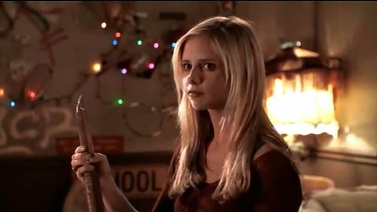 Sarah Michelle Gellar as Buffy Summers in Buffy the Vampire Slayer.