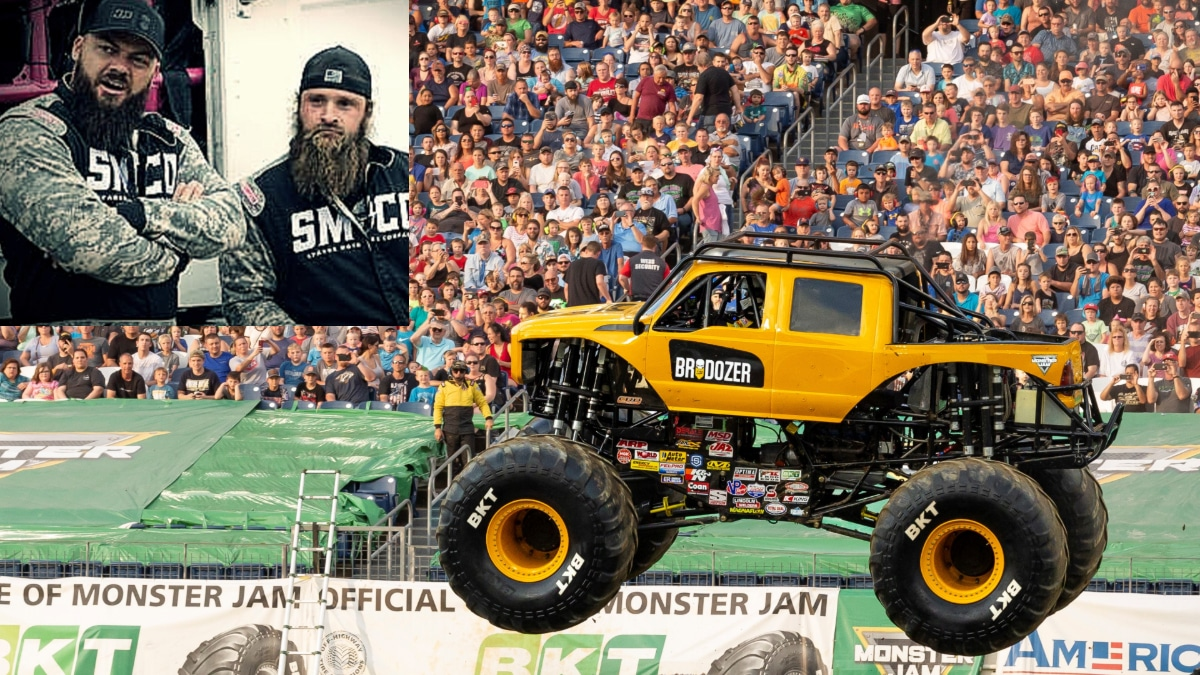 Diesel Brothers attempt Monster Jump on live TV