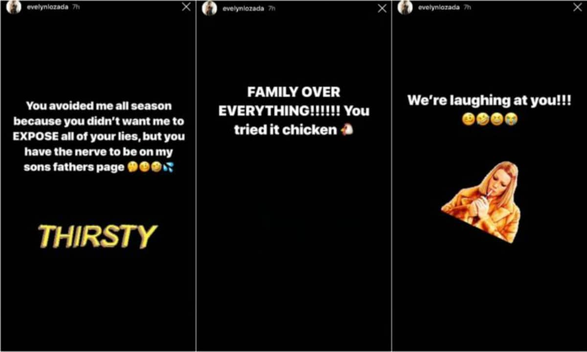Evelyn Lozada's Instagram stories aimed at Tami Roman