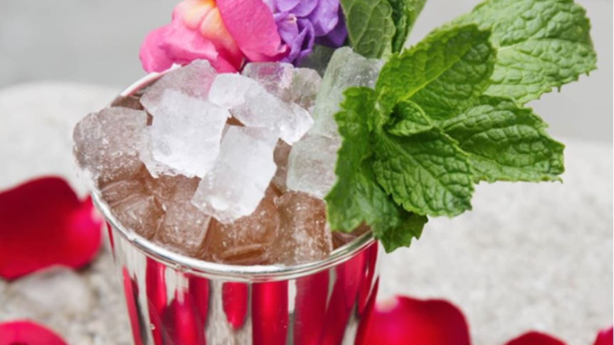 This takes the best hat award for mint juleps on Derby day, that garnish! Pic credit: Paper Daisy NYC