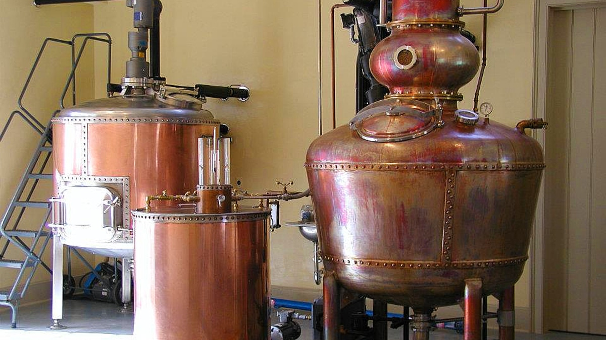 Hillrock's distillery uses copper pots and hand crafts their small batch bourbons. Pic credit: Hillrock Distillery
