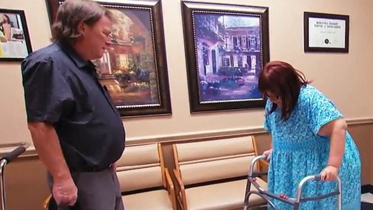 Janine's boyfriend was with her at this visit to Dr. Now's. Pic credit: TLC