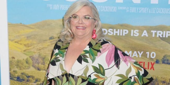 Paula Pell at the world premiere of Wine Country in NYC