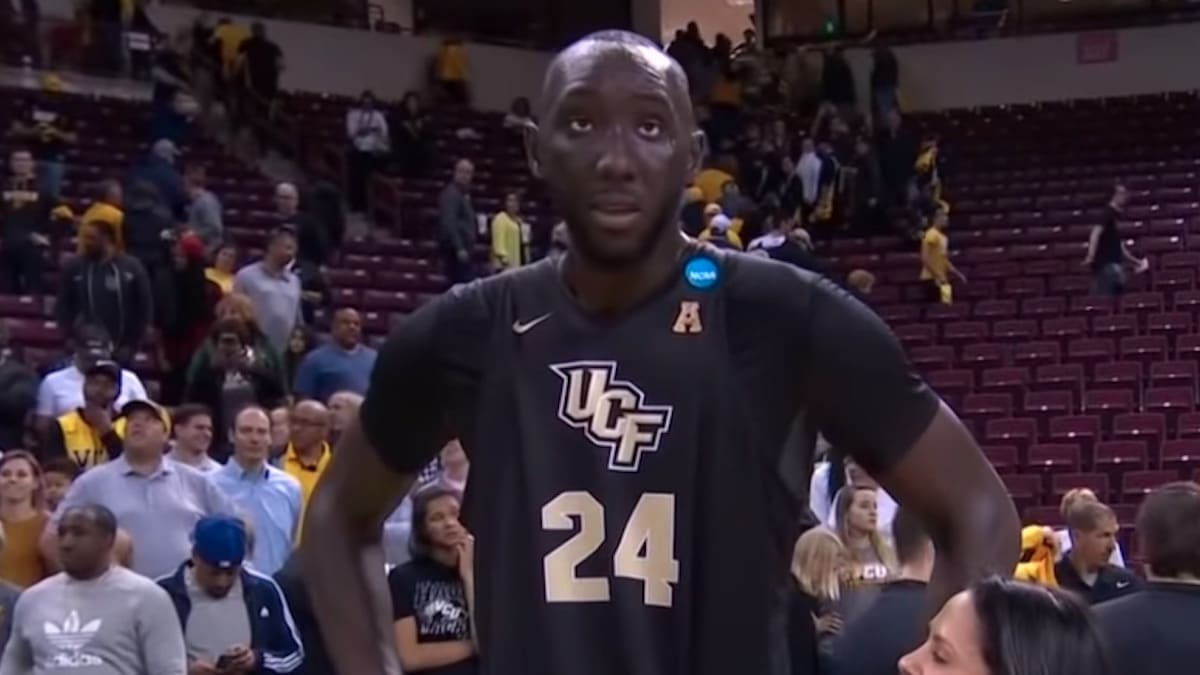 tacko fall after ucf ncaa tournament 2019 game