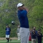 tiger woods watches his shot at PGA Championship 2019