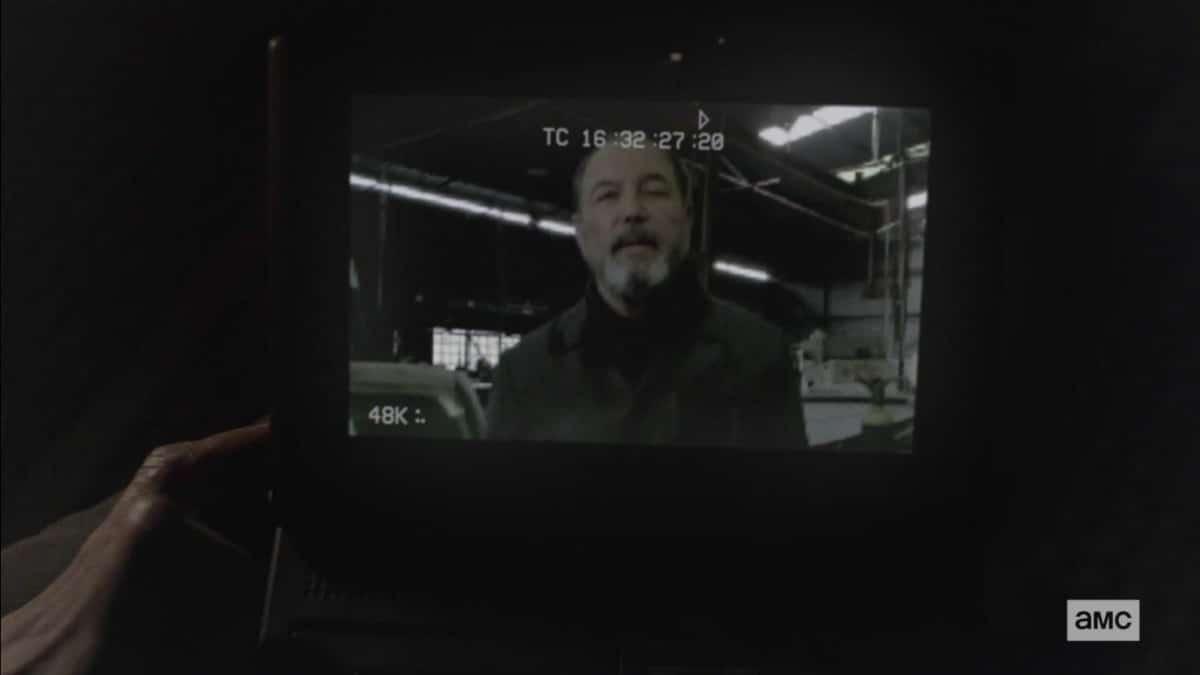 Daniel Salazar on camera on Fear the Walking Dead