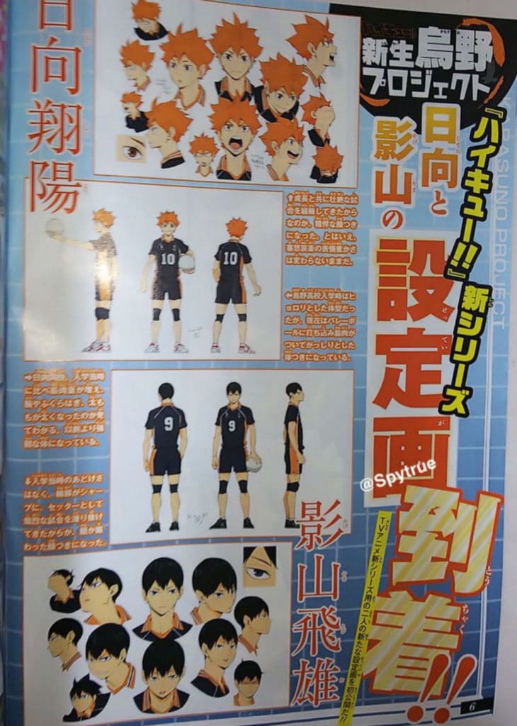 Haikyuu Season 4 Character Design Anime