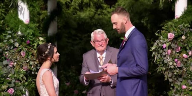 Amber Bowles and Matt Gwynne at their Married at First Sight wedding