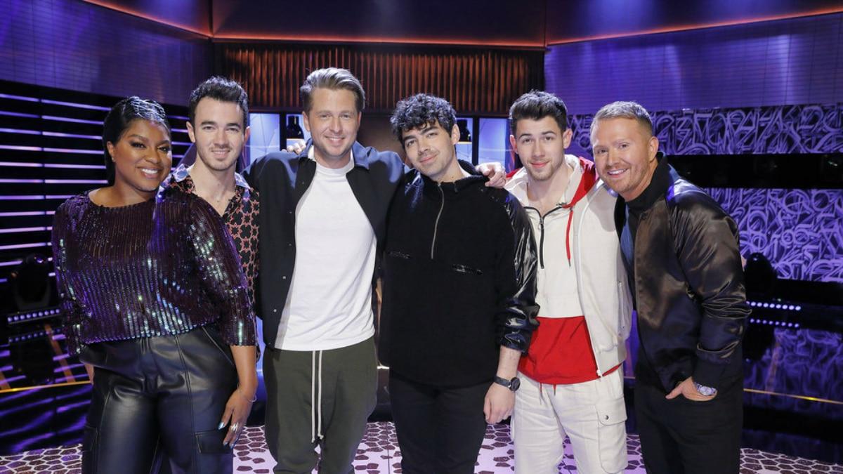 Ester Dean, Kevin Jonas, Ryan Tedder, Joe Jonas, Nick Jonas, Shane McAnally