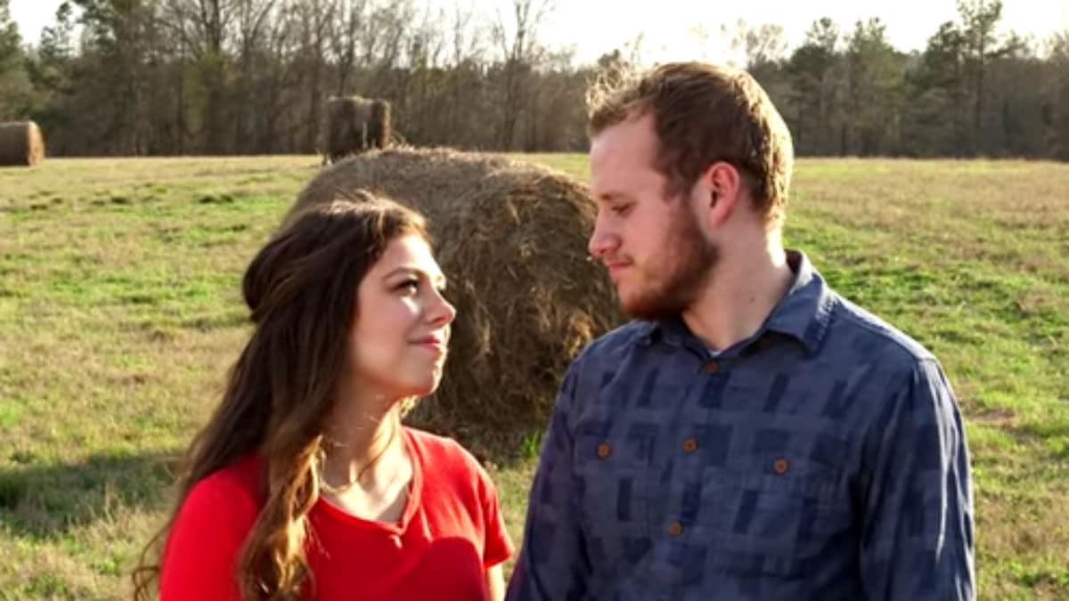 Josiah and Lauren Duggar during their engagement announcement.