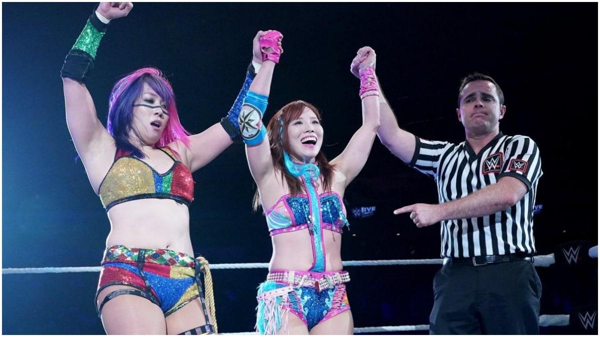 Kabuki Warriors battle for WWE women's title match in Japan