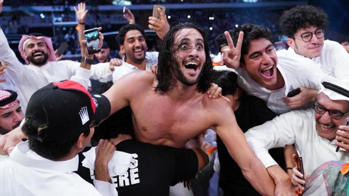 Who is Mansoor, the WWE superstar who won the 50-man battle royal at Super Showdown in Saudi Arabia