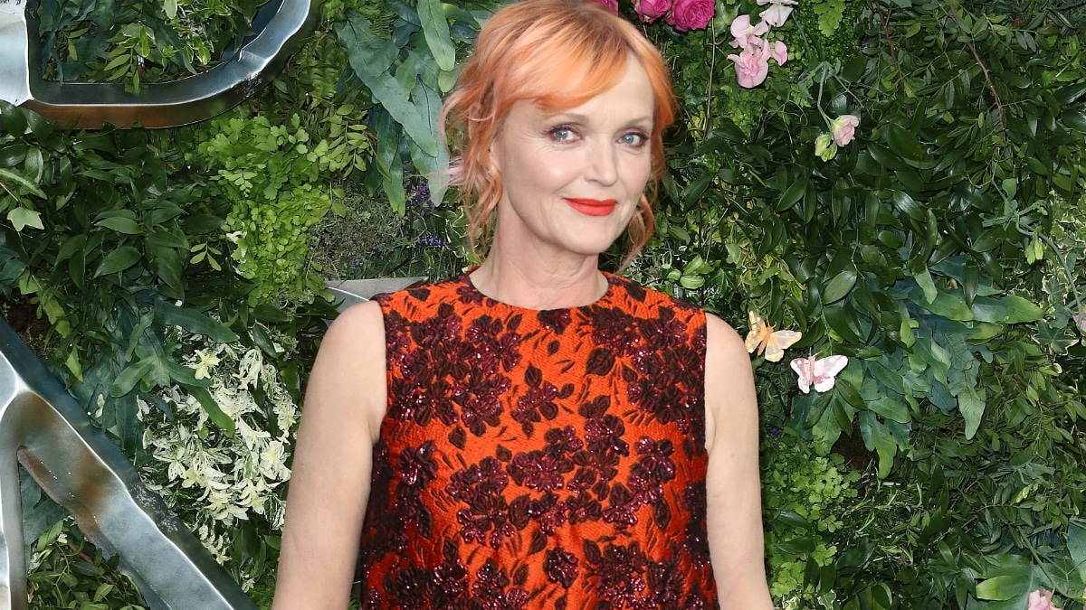 Miranda Richardson at Global TV Premiere of Amazon Original Good Omens at Odeon Luxe Leicester Square, London on May 28th 2019