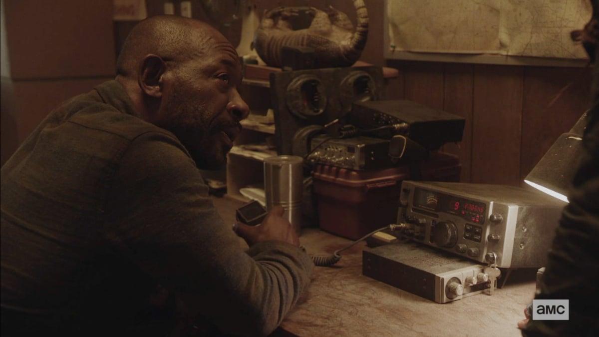 Morgan mans the radio on Fear the Walking Dead