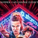 Season 3 poster for Stranger Things showing various cast members