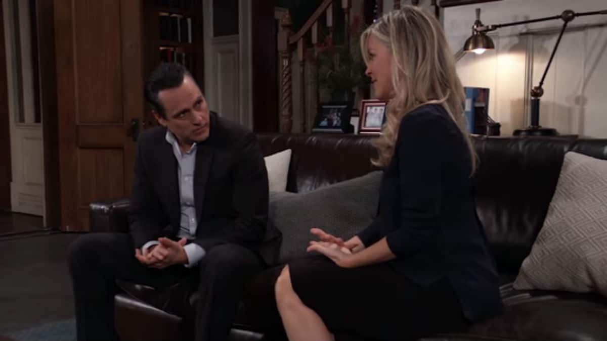 Maurice Benard and Laura Wright as Sonny and Carly on General Hospital.