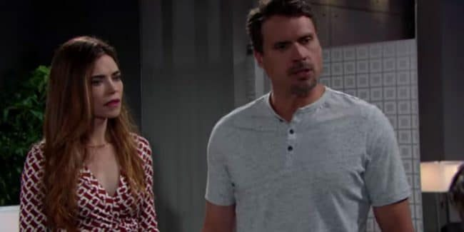 Amelia Heinle and Joshua Morrow as Victoria and Nick on The Young and the Restless.