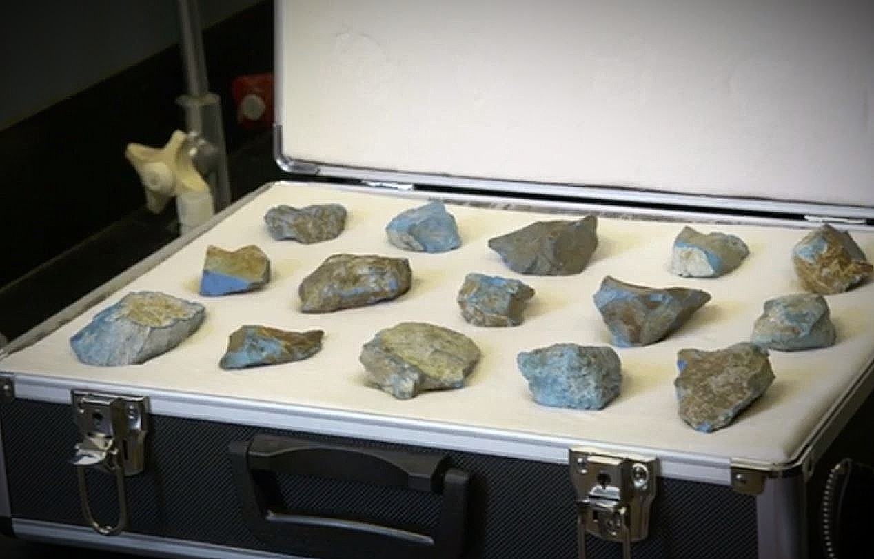 The mysterious blue stones of Sierra Leone where the Nomoli are found. Pic credit: History