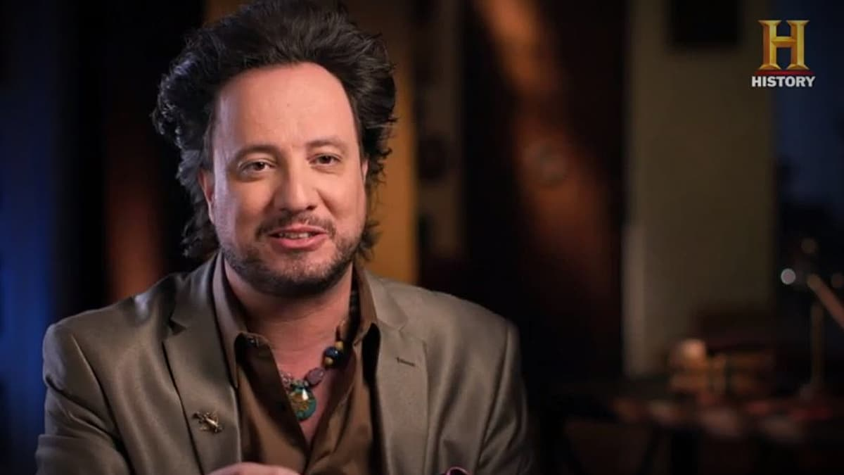 Giorgio's hair is on point and we are psyched for the new season of Ancient Aliens. Pic credit: History