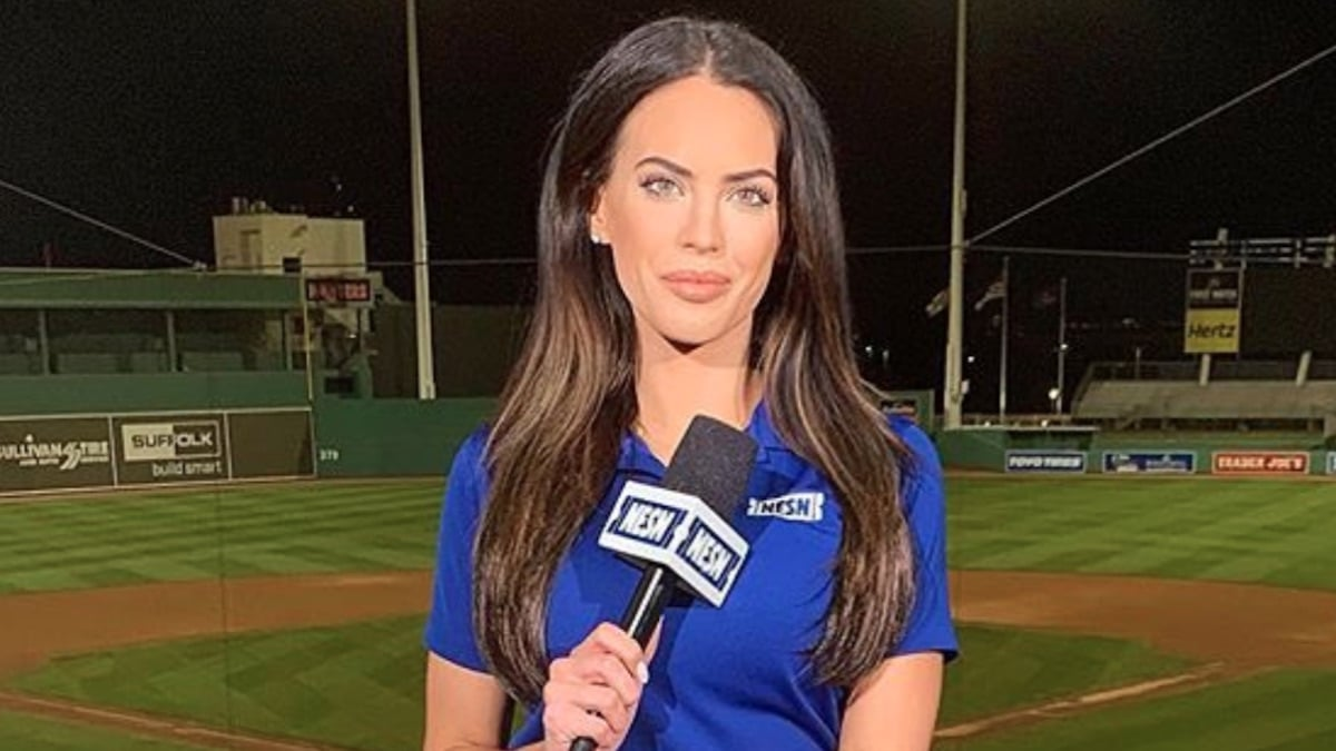 anchor kacie mcdonnell appears during baseball segment for nesns