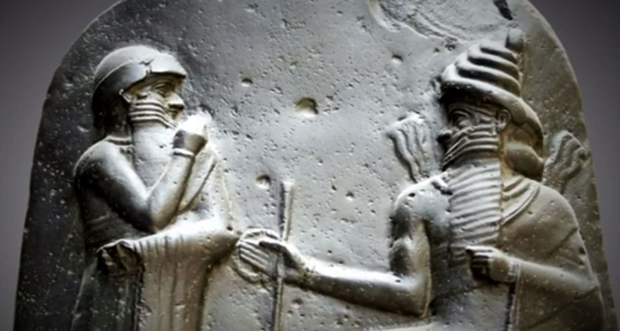 A still from tonight's Ancient Aliens as Hammurabi is one of the pieces of evidence used in ancient alien theory. Pic credit: History