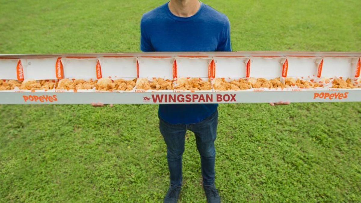 special popeyes wingspan box in honor of new orleans pelicans draft pick zion williamson