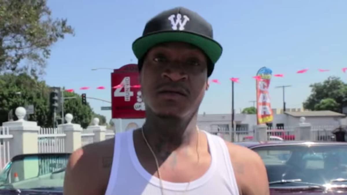 rapper slim 400 from the yg video bruisin