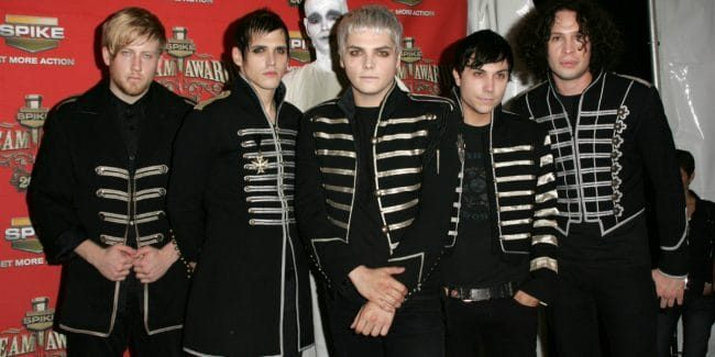 "My Chemical Romance in the press room at Spike TV's ""Scream Awards 2006""."